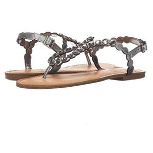 UNLISTED BY KENNETH COLE Pewter Magic Coin Sandals